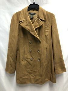 Banana Republic Tan Wool Cashmere Blend Trench Coat Classic Size Large