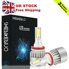 2x H8 H11 Xenon White Fog Lights COB Chips Super Bright LED Bulbs Conversion Kit