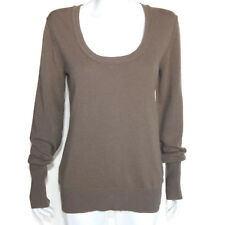 RAFFI 100% Cashmere Mocha Brown Scoop Neck Sweater Size Extra Large XL /1392