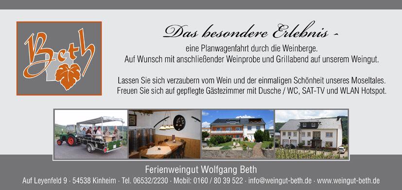 Ferienweingut Wolfgang Beth - Shop