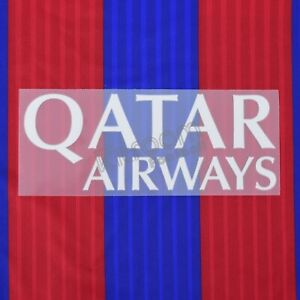 2013-17 Barcelona Qatar Airways Home Player Issue Sponsor Patch Sporting ID f...