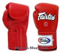 New Fairtex Muay Thai Boxing Gloves BGV5 Red Super Sparring MMA K1 12 14 16 oz