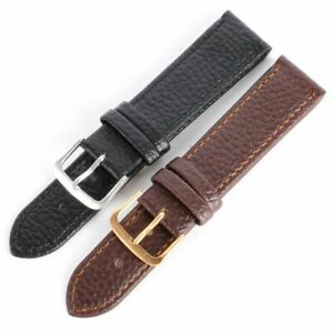 Replacement Mens Leather Wrist Watch Strap Band Steel Buckle Watch Belt 12-22mm