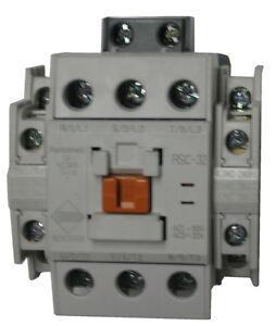 Benshaw RSC-32-6AC120 3 pole 32 AMP contactor with 120 volt AC coil