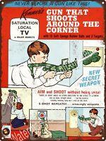 """1954 Daisy Ammunition BB Shot Red Ryder Targets Dart Cork Metal Sign 9x12/"""" A457"""