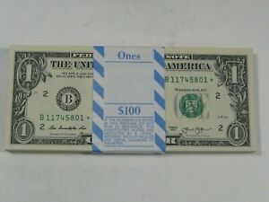 CU 2013 New York STAR Notes. Original BEP Pack of 100 Consecutive.  #7