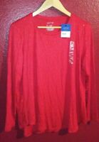 Women's Apt. 9 Long Sleeve Red Sparkle Shirt Size PXL NEW with Tags
