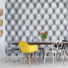 Tapete Fototapete Vlies Luxus Grau Und Weiß Chesterfield Textur