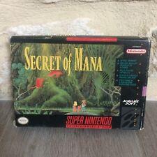 Secret of Mana Super NES Nintendo SNES USA in Box USA NTSC Tested