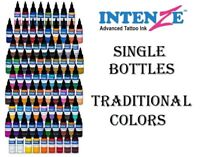 INTENZE Tattoo Ink Traditional Colors and other Single Individual Bottles 1 oz