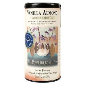 The Republic of Tea Vanilla Almond Sweetens The Mind Tea 50 Tea Bags Tin