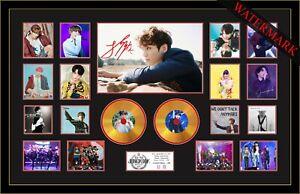 NEW! JUNGKOOK DYNAMITE BTS SIGNED MINI GOLD VINYL RECORD LTD EDT OF 100 FRAMED