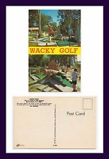 SOUTH CAROLINA MYRTLE BEACH WACKY MINIATURE GOLF DOUBLE VIEW POSTCARD CIRCA 1968