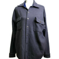 Vintage Great Land Womens Button Down Shirt Size Medium Gray Blue Long Sleeves