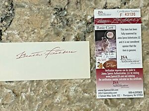 Beattie Feathers signed 1930's Chicago Bears CFHOF Index Card Cut JSA d. 1979