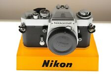 Nikon Nikkormat EL Auto/manual silver SLR. MINT- condition. Fantastic example!