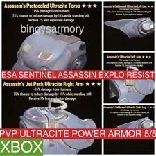 ESA SENTINEL ASSASSIN EXPLOSION RESIST 5/5 ULTRACITE POWER ARMOR XBOX FO 76 PVP