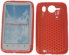 TPU Pattern Gel Case Protector Cover Pouch For HTC Desire HD G10 A9191 Orange UK