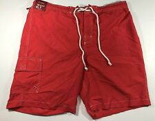 229fcae714 men's swimsuit merona NWT size:Large color:Orange/Red 100% polyester