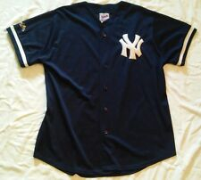 Majestic NY New York Yankees Authentic Diamond Collection Batting Jersey Mens L
