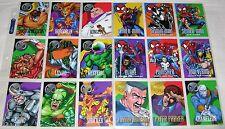 1996 Marvel Vision Skybox Fleer Marvel Comic Trading Cards Complete Set
