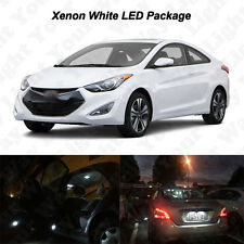 10x White LED Interior Bulbs + Reverse + Tag Light For 2011-2016 Hyundai Elantra