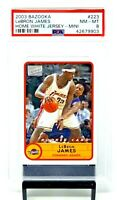 Rare 2003 Bazooka Mini Lakers LEBRON JAMES Rookie Card PSA 8 NM-MINT / Pop 13