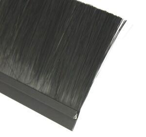 1 m Streifenbürste 90 mm Alu Profil schwarz EXKLUSIV Bürstendichtung Türbürste