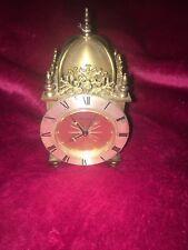 Rare Vintage Brass Swiza 8-Day Alarm Miniature Clock  Travel Clock. Swiss Made