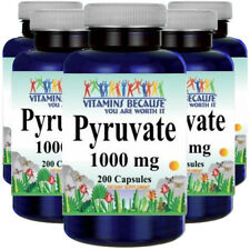 Pyruvate 1000mg 5X200caps (from Calcium) by Vitamins Because