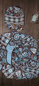 vera bradley large duffel travel bag Java Blue