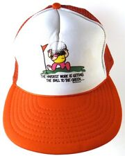 Novelty Funny Golf Snapback Hat The Hardest Work Is Getting Ball To The Green