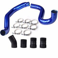 Fit 03-07 Ford Turbo Intercooler Pipe & Boot Kit CAC tubes 6.0L Powerstroke Blue