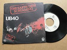 "DISQUE 45T   DE  UB 40   "" THE EARTH DIES SCREAMING   """