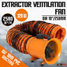 10'' Extractor Fan Blower portable 10m Duct Hose Garage High Velocity 2580 m3/h