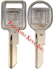 "2 NEW GM Logo OEM ""A"" IGNITION +""B"" DOORS/TRUNK Key Blanks Uncut 320588 + 320589"