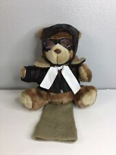 Aviator Bear With Bomber Jacket Golf Headcover Brand New