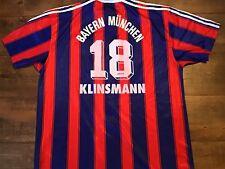 1995 1997 Bayern Munich Klinsmann Home Football Shirt Large XL Trikot Maglia c6ad2adad0782