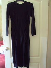 Little black slinky dress with ruching at front- small size - lovely party dress