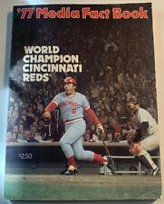Cincinnati Reds 1977 Media Press Guide Angels Scout Del Rice Estate