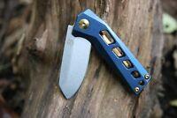 StatGear SLINGER EDC Flipper Pocket Knife D2 Steel Stainless Steel Handle & Clip