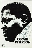 Oscar Peterson Jazz Musician Hand Signed Pamphlet 8 x 6