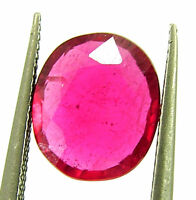 2.10 Ct Natural Certified Ruby Loose Gemstone Oval Cut Mozambique Stone - 133148