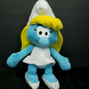 "Smurfette The Smurfs Blue White Yellow Hair Girl Plush Stuffed Animal 11"" Nanco"