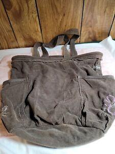 Thirty One Retro Metro Shoulder Bag Tote Purse Brown Large Utility Pocket Hobo