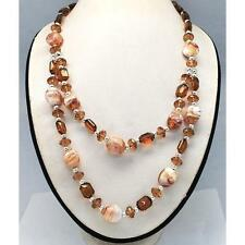 Wholesale Lot 6 Two Strand Mottled Glass & Faceted Acryclic Bead Necklaces