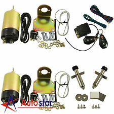 100lb Shaved Door Handle Kit 2 Door Popper Solenoid Street Rat Hot Rod Car Truck