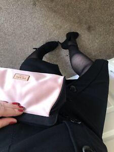 Karen Millen Hight Waist Black Pencil Sexy Skirt Uk 14