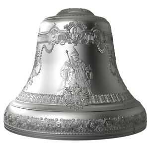 Tsar Bell 4 oz 3D Bell-Shaped Proof Silver Coin 10$ Niue 2017