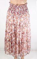 Lauren by Ralph Lauren Women's Skirt Red Size 12P Petite Peasant Boho $135 #096